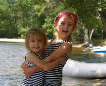 Gianna and Ellie on Lake Webb 2013
