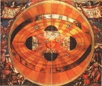 Copernicus painting of a heliocentric universe