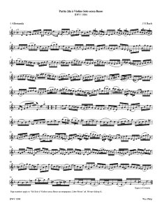 violin partita No 2 D Minor JS Bach