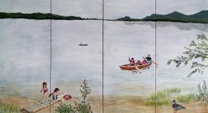 Webb Lake wall panels